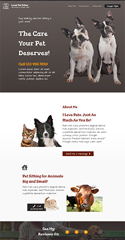 One Page Webpage Template